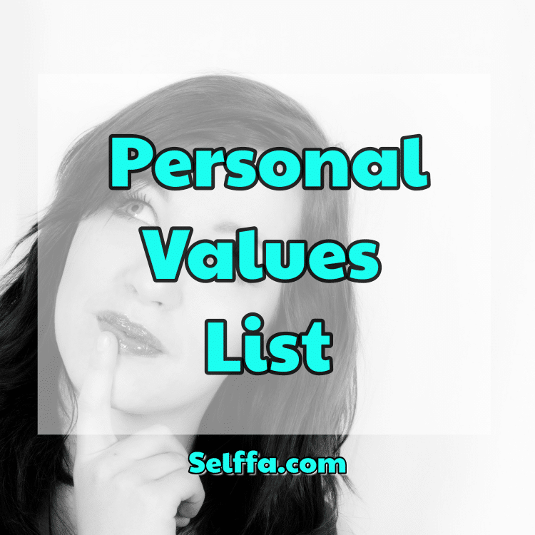 Personal Values List