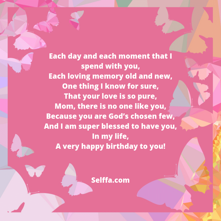 Birthday Poems for Moms