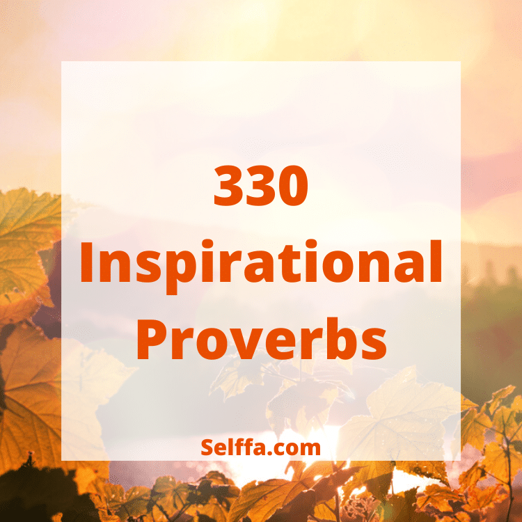 Inspirational Proverbs