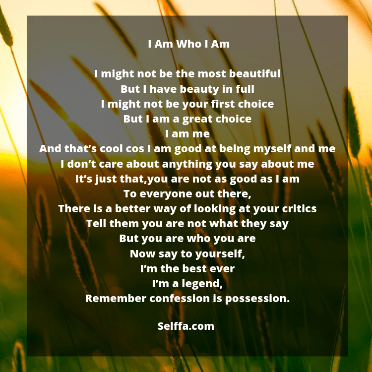 Poems About Be Yourself